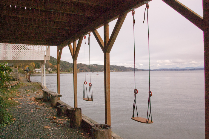 Swings under the porch